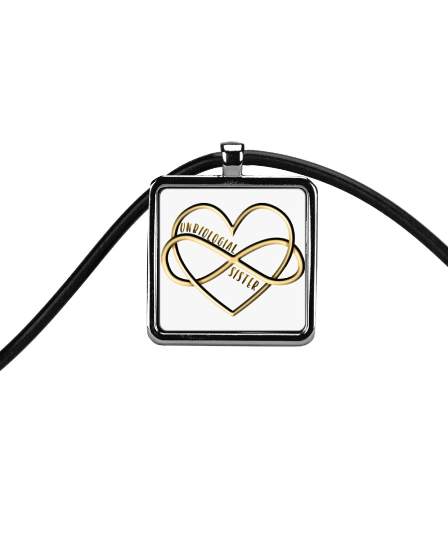 Available for a short time only Cord Rectangle Necklace