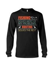 Angler Fish Fishing and Hunting Family Campi Long Sleeve Tee thumbnail