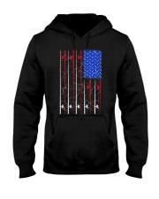 American US Flag Fishing Rod Shirt Fisherma Hooded Sweatshirt thumbnail