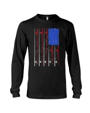 American US Flag Fishing Rod Shirt Fisherma Long Sleeve Tee thumbnail