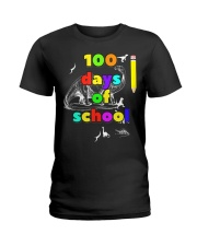 100 days of school for kids and teachers - d Ladies T-Shirt thumbnail