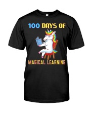 100th Day of School Unicorn Teacher with Boo Classic T-Shirt front