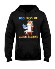 100th Day of School Unicorn Teacher with Boo Hooded Sweatshirt thumbnail