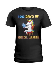 100th Day of School Unicorn Teacher with Boo Ladies T-Shirt thumbnail