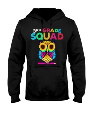 3rd Grade Squad Sunflower Owl Third Grade Te Hooded Sweatshirt thumbnail