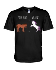 Your Aunt My Aunt Horse Unicorn V-Neck T-Shirt thumbnail