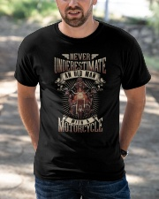 Never Underestimate An Old Man With A Motorcycle Classic T-Shirt apparel-classic-tshirt-lifestyle-front-50