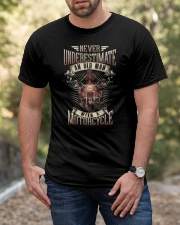 Never Underestimate An Old Man With A Motorcycle Classic T-Shirt apparel-classic-tshirt-lifestyle-front-53