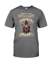 Never Underestimate An Old Man With A Motorcycle Premium Fit Mens Tee thumbnail