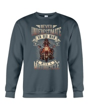 Never Underestimate An Old Man With A Motorcycle Crewneck Sweatshirt thumbnail
