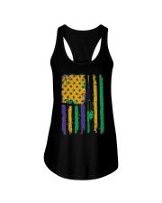 American Flag Mardi Gras T-shirt Mardi Gras  Ladies Flowy Tank thumbnail