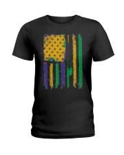 American Flag Mardi Gras T-shirt Mardi Gras  Ladies T-Shirt thumbnail