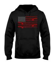 American Flag Fishing Rod Reel Pole Fishers  Hooded Sweatshirt thumbnail