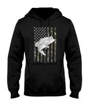 American Camouflage USA Flag Bass Fishing Fi Hooded Sweatshirt thumbnail