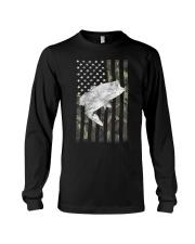 American Camouflage USA Flag Bass Fishing Fi Long Sleeve Tee thumbnail