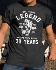 70th Birthday Gift The Fishing Legend 70 Yea Classic T-Shirt apparel-classic-tshirt-lifestyle-28