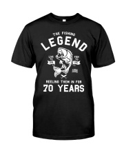 70th Birthday Gift The Fishing Legend 70 Yea Classic T-Shirt front