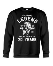 70th Birthday Gift The Fishing Legend 70 Yea Crewneck Sweatshirt thumbnail