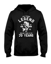 70th Birthday Gift The Fishing Legend 70 Yea Hooded Sweatshirt thumbnail