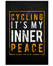 Cycling It's My Inner Peace 11x17 Poster front