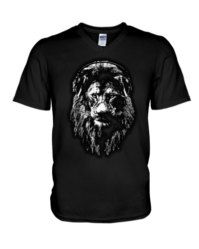 Lion with headset