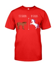 Your Grandma My Grandma Horse Unicorn Classic T-Shirt front