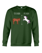 Your Grandma My Grandma Horse Unicorn Crewneck Sweatshirt front