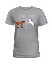 Your Grandma My Grandma Horse Unicorn Ladies T-Shirt front