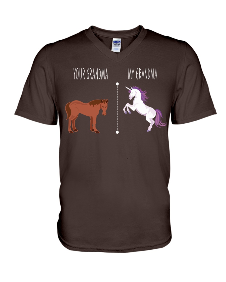 Your Grandma My Grandma Horse Unicorn V-Neck T-Shirt