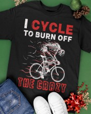 I Cycle To Burn Off The Crazy Classic T-Shirt apparel-classic-tshirt-lifestyle-back-69