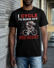 I Cycle To Burn Off The Crazy Classic T-Shirt apparel-classic-tshirt-lifestyle-front-40