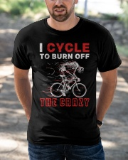 I Cycle To Burn Off The Crazy Classic T-Shirt apparel-classic-tshirt-lifestyle-front-50