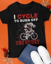 I Cycle To Burn Off The Crazy Classic T-Shirt apparel-classic-tshirt-lifestyle-front-83