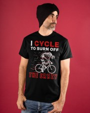 I Cycle To Burn Off The Crazy Classic T-Shirt apparel-classic-tshirt-lifestyle-front-89