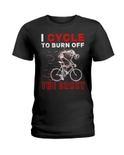 I Cycle To Burn Off The Crazy Ladies T-Shirt thumbnail