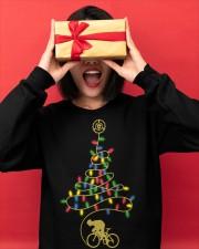 Bicycle Christmas Tree v3 Crewneck Sweatshirt apparel-crewneck-sweatshirt-lifestyle-front-18