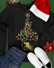 Bicycle Christmas Tree v3 Crewneck Sweatshirt apparel-crewneck-sweatshirt-lifestyle-front-21