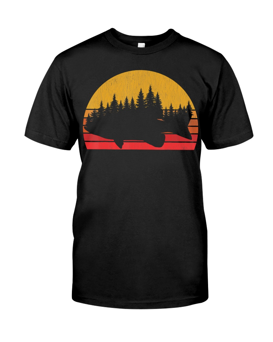 Bass Fishing Forest Retro Largemouth Classic T-Shirt