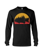 Bass Fishing Forest Retro Largemouth Long Sleeve Tee thumbnail