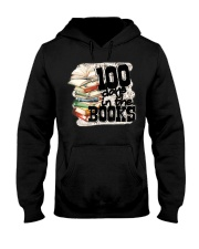 100 Days In The Book 100th Day Of School Tea Hooded Sweatshirt thumbnail
