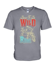 Born To Be Wild Live To Ride V-Neck T-Shirt thumbnail