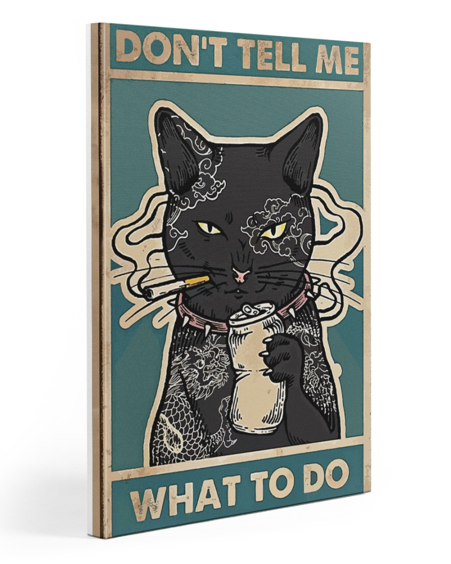 cat poster 20x30 Gallery Wrapped Canvas Prints