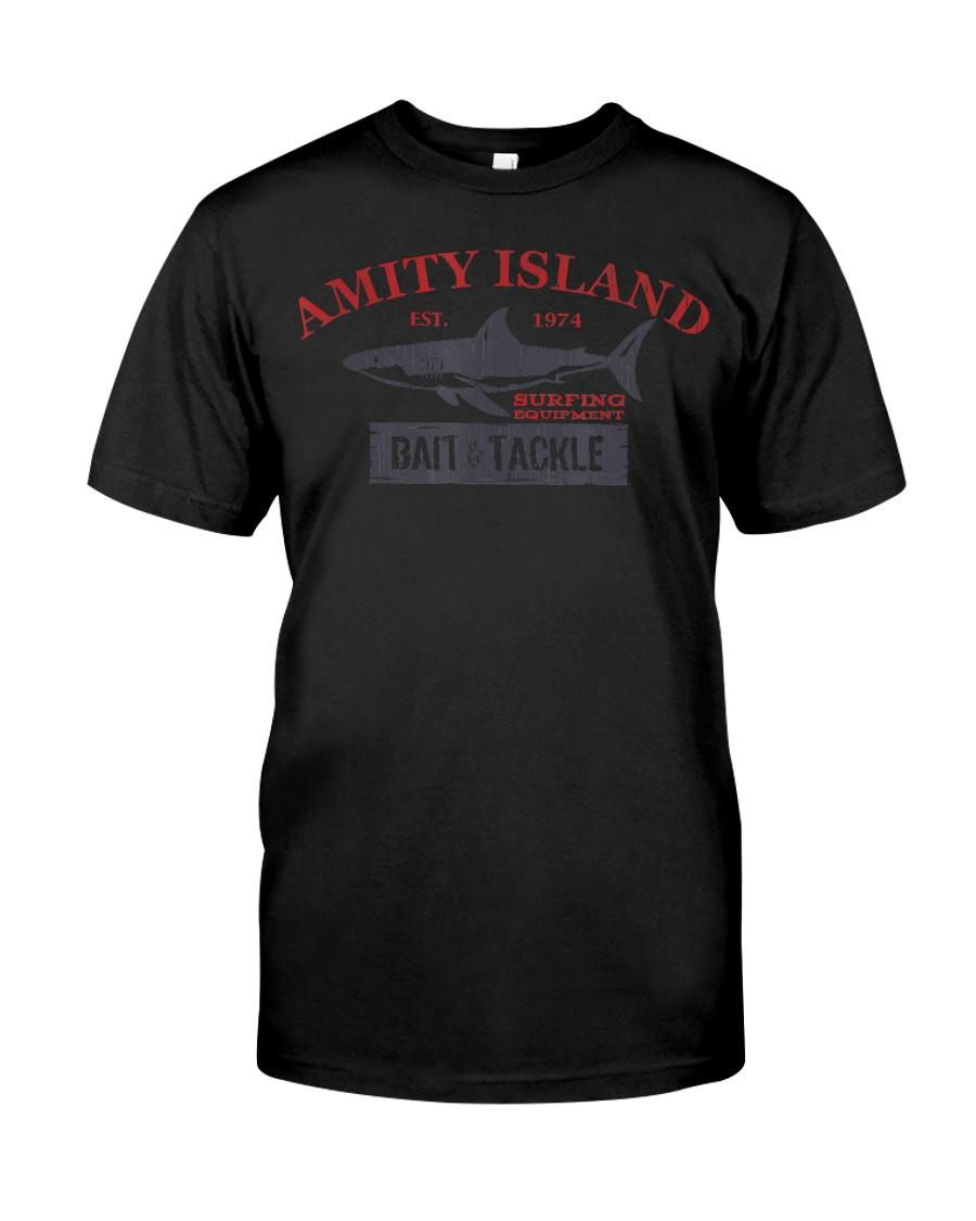 Amity Island Bait and Tackle Retro Fishing T Classic T-Shirt