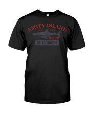 Amity Island Bait and Tackle Retro Fishing T Classic T-Shirt front