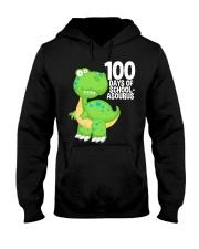 100 Days Of School Asurus Dinosaurs Teachers Hooded Sweatshirt thumbnail