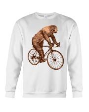 Sloth Biking Crewneck Sweatshirt thumbnail