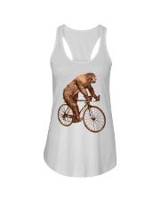Sloth Biking Ladies Flowy Tank thumbnail