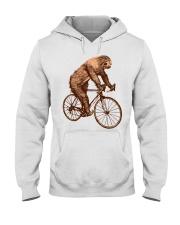 Sloth Biking Hooded Sweatshirt thumbnail