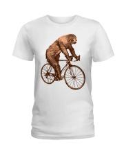 Sloth Biking Ladies T-Shirt thumbnail