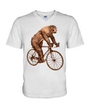 Sloth Biking V-Neck T-Shirt thumbnail
